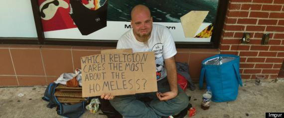 r HOMELESS MAN TESTS KINDNESS RELIGIONS large570 Bill says homeless have right to be on the street